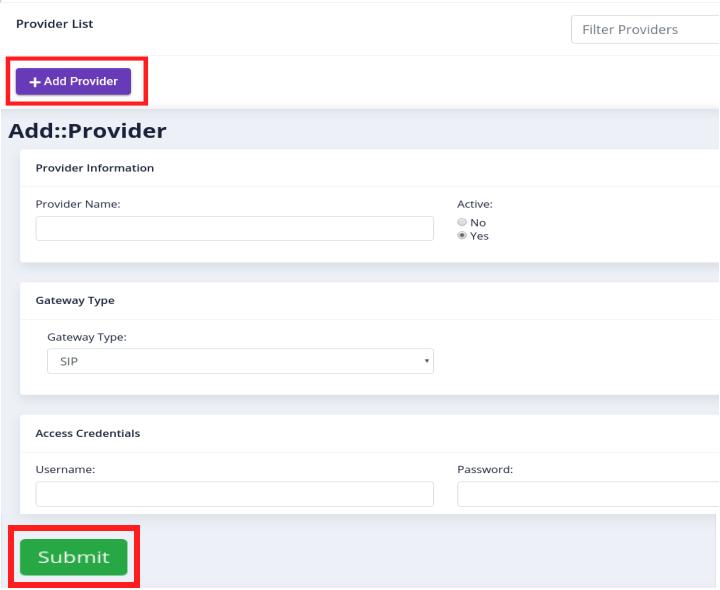 add new provider
