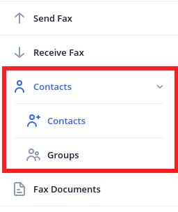 contact menu