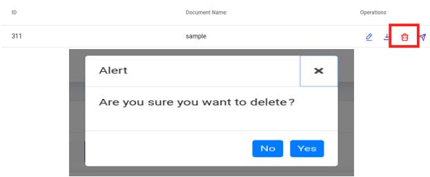 delete fax document