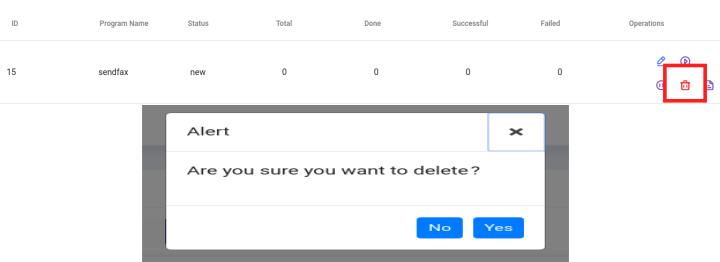 delete fax record