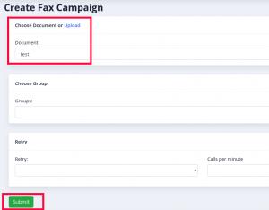 campaign form